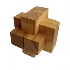 Деревянная головоломка Крест Простой