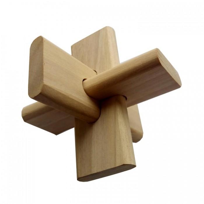 Деревянная головоломка Крест ОСС Круть Верть