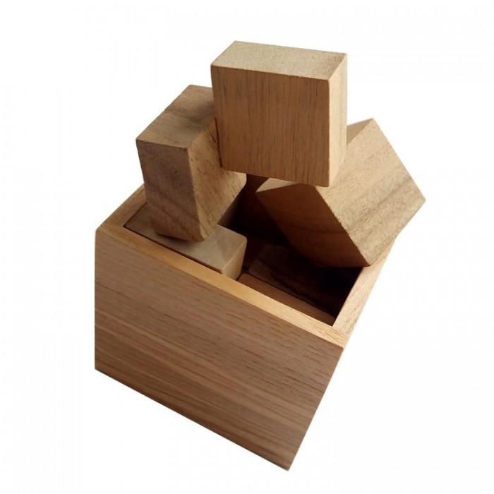 Деревянная головоломка Гала куб Круть Верть