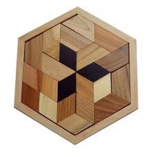 Деревянная головоломка Митcубиси (Mitsubishi)