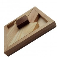 Деревянная головоломка Черный квадрат большой