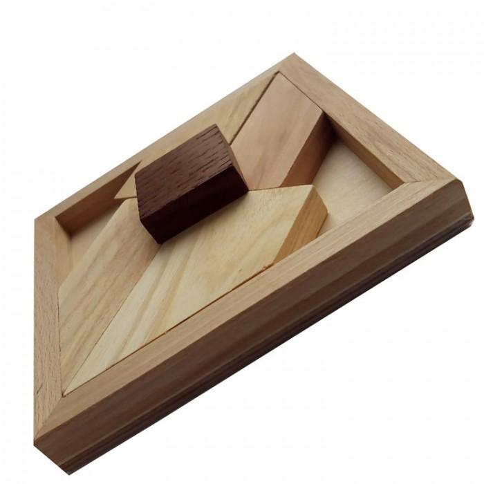Дерев'яна головоломка Чорний квадрат великий
