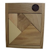 Деревянная головоломка Черный квадрат малый