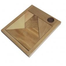 Дерев'яна головоломка Чорний квадрат малий
