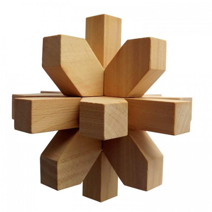 Деревянная головоломка Снежинка