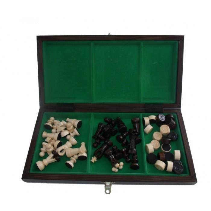 Комплект Шахи та шашки малі с-165а