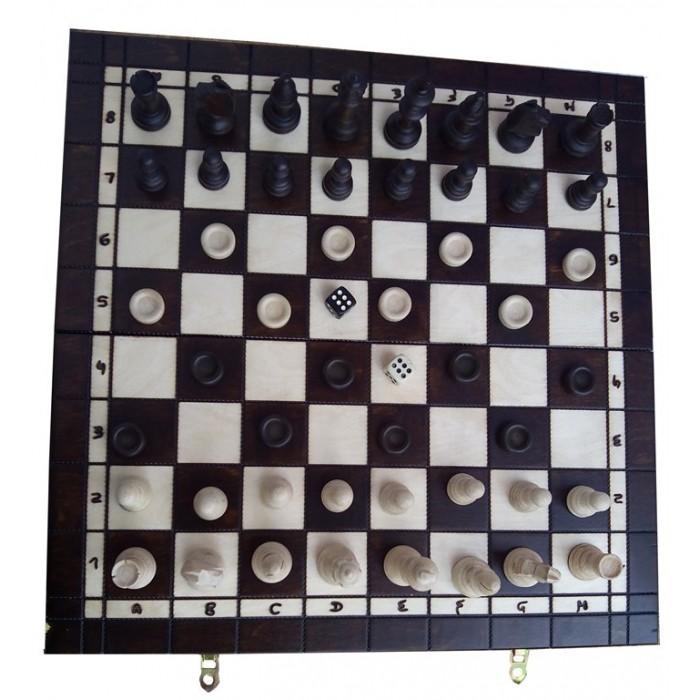 Комплект шахматы + шашки + нарды (Madon) с-141