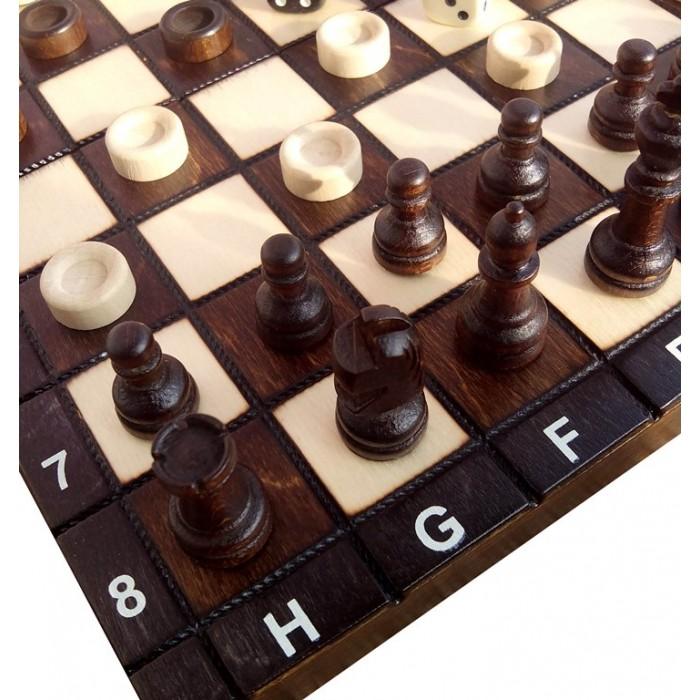 Комплект шахматы + шашки + нарды малые (Madon) с-142