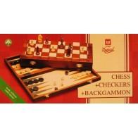 Комплект нарди + шахи + шашки №5