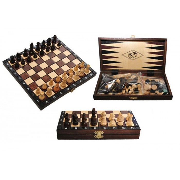 Нарди + шахи + шашки туристичні