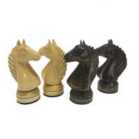 Комплект 3 в 1 50х50 см (шахи, шашки та нарди) ручної роботи, різьблений, темний, горіх.