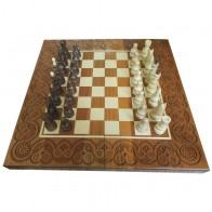 Комплект шахматы,нарды, шашки ручной роботы 55х55см светлый RR-Z0004
