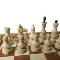 Комплект шахи, нарди, шашки ручної роботи 55х55см світлий RR-Z0004