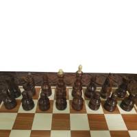 Комплект шахи, нарди, шашки ручної роботи 55х55см темний RR-Z0005