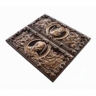 Нарди дерев'яні різьблені Запорізька січ (50х46см)