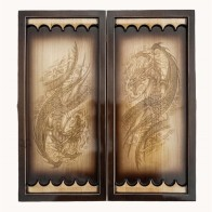 Нарды деревянные резные Дракон (50х46см)