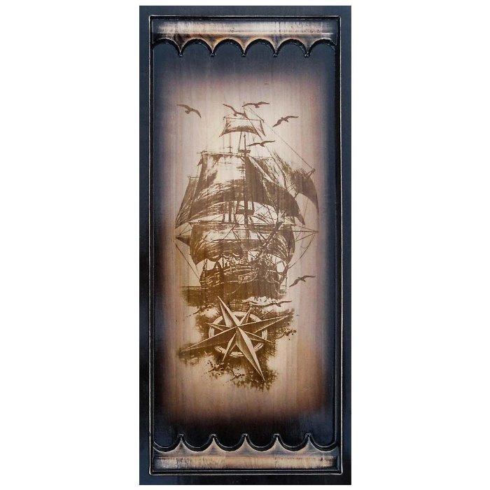 Нарди дерев'яні різьблені Моряк (50х46см)