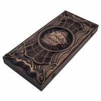 Нарды деревянные резные Пиратские. Черная Жемчужина (50х46см)