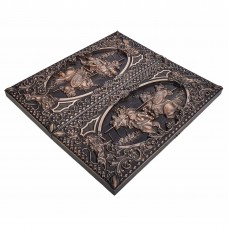 Нарди дерев'яні різьблені Богатирська Битва (50х46см)