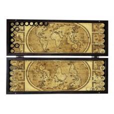 Нарды подарочные Карта мира