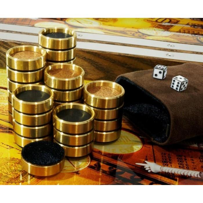 Нарды металлические премиум класса Время-Деньги