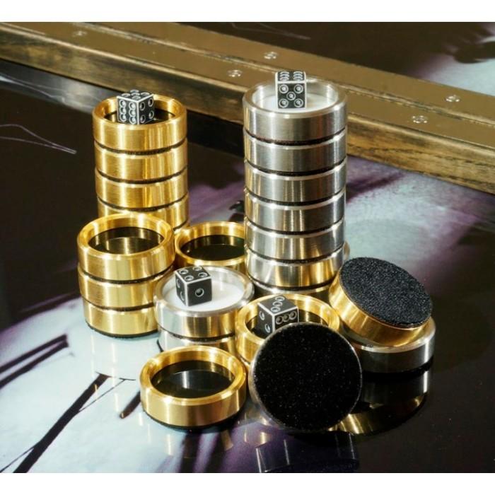 Нарди металеві преміум класу Азарт №2