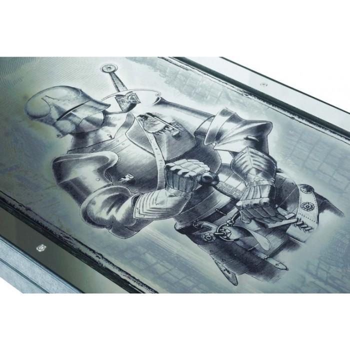 Нарды эксклюзивные металлические Рыцарь