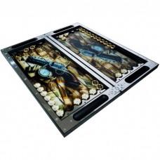 Нарды хай-тек металлические Карты деньги два ствола