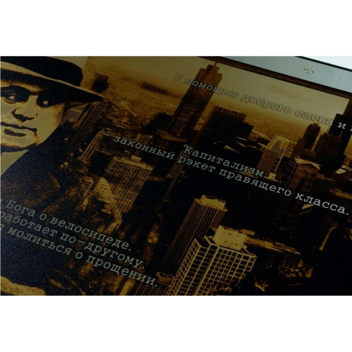 Нарды подарочные металлические Аль Капоне (Al Capone)