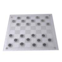 Алко шахматы, шашки стеклянные 086L-3