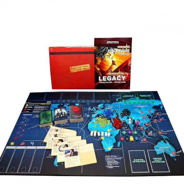 Настільна гра Пандемія: Спадщина (червона) (Pandemic: Legacy, red)