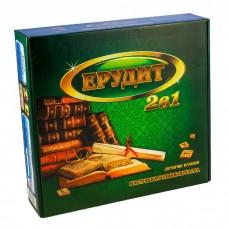 Настільна гра Ерудит 2 в 1 (російська + українська мова)