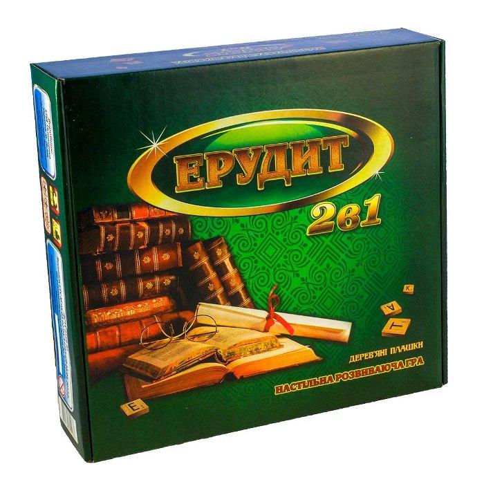 Настольная игра Эрудит 2 в 1 (русский + украинский язык)