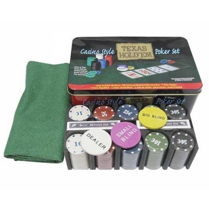 Покерний набір Texas Holdem на 200 фішок (коробка) 200T-2