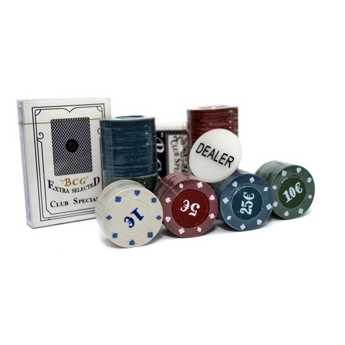 Покерний набір Poker Chips на 100 фішок (коробка)