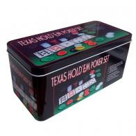Покерный набор Texas Holdem на 200 фишек (коробка)