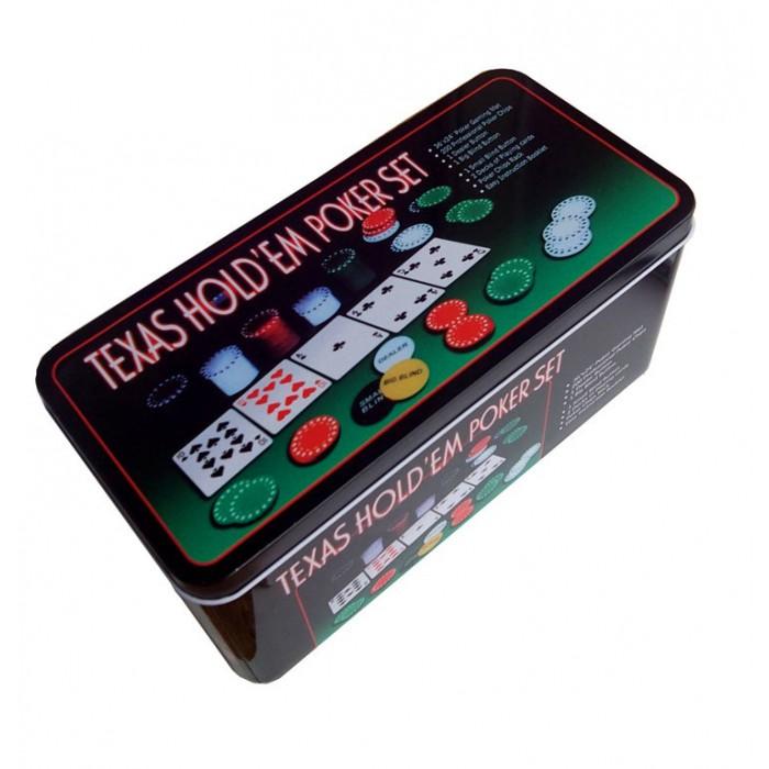 Покерний набір Texas Holdem на 200 фішок (коробка)
