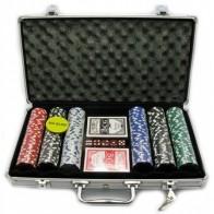 Покерний набір на 300 фішок з номіналом (кейс)