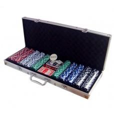 Покерний набір на 500 фішок (кейс)