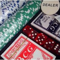Покерний набір на 500 фішок з номіналом (кейс)
