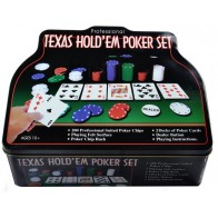 Покерный набор Texas Holdem на 200 фишек в коробке