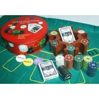 Покерний набір в коробці на 240 фішок с номіналом