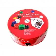 Покерный набор в коробке на 240 фишек с номиналом