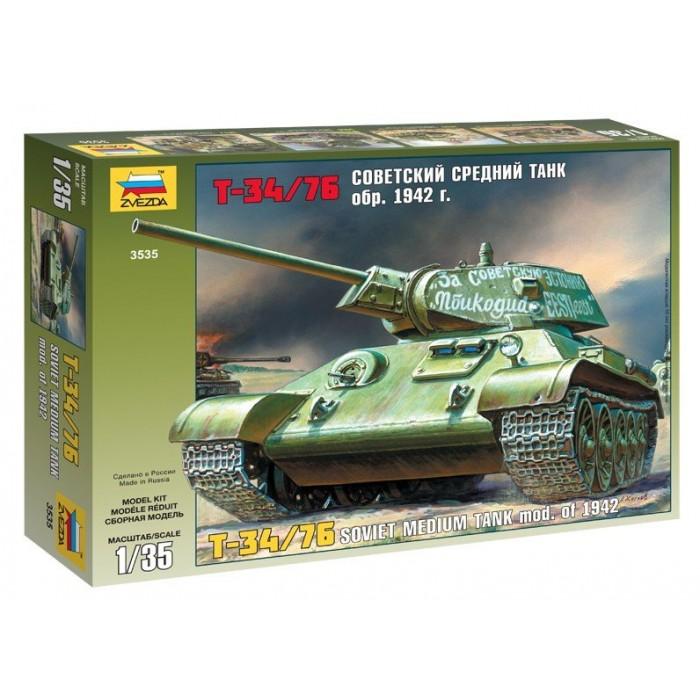 Збірна модель для склеювання радянський танк Т-34/76 зразка 1942 р