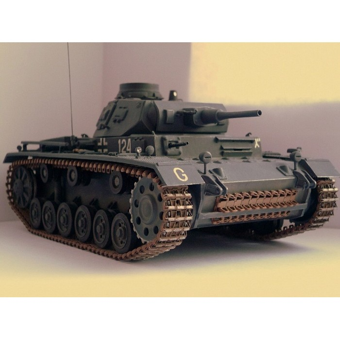 Збірна модель для склеювання німецький танк Т-III (F)