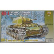 Збірна модель для склеювання радянський танк КВ-1 модель 1940 р