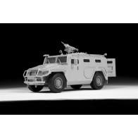 """Сборная модель для склеивания бронеавтомобиль ГАЗ """"ТИГР"""""""