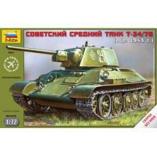 Збірна модель радянський танк Т-34/76
