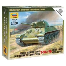 Збірна модель радянський середній танк Т-34/76 (зразок 1940р)