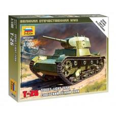 Сборная модель советский легкий танк Т-26